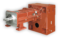 Gearboxes for twin-screw extruders