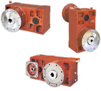 Reduction gearboxes and geared motors for single-screw extruders